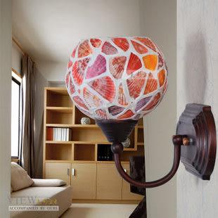 設計師美術精品館色彩燈飾燈具 馬賽克鐵藝壁燈鏡前燈 996-138彩貝壁燈