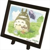 【拼圖總動員 PUZZLE STORY】散步的好天氣 日本進口拼圖/Ensky/龍貓/150P/迷你/塑膠/附褐色框