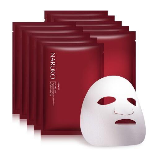 NARUKO 紅薏仁毛孔亮白緊緻面膜 10入 ◆86小舖 ◆ 牛爾親研