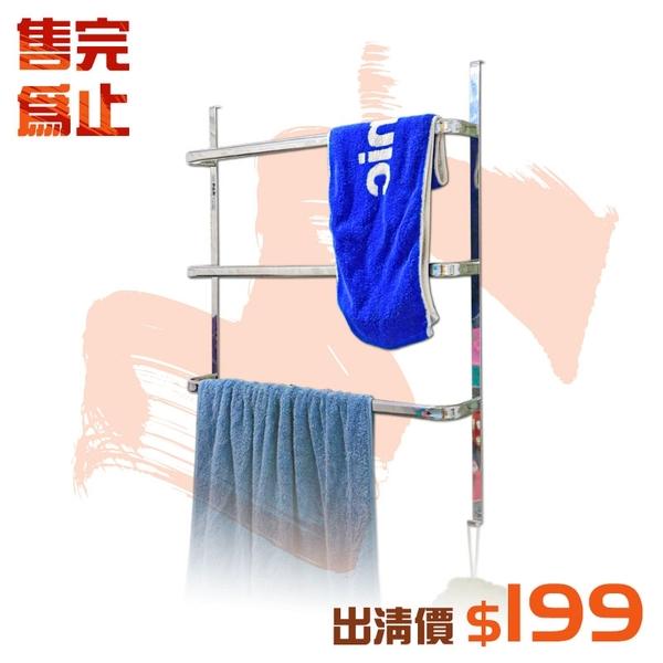 【居家cheaper】出清 質感玻璃門後架 (衛浴架/浴巾架/乾濕分離架/毛巾架)