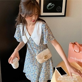 碎花洋裝 小雛菊za碎花連身裙女短袖2021夏季新款小個子短款喇叭袖a字裙子 新品