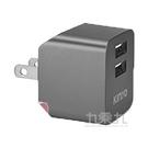 KINYO 雙USB充電器(5V2.4A)CUH-223-灰