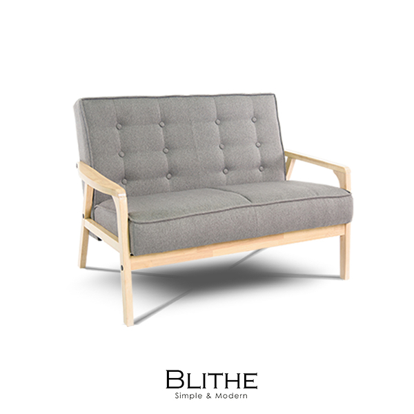 沙發 雙人沙發 Blithe雙人灰岩立方布沙發(LS/CAD-005-20雙人灰岩布沙發)【DD House】時尚家居