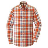 [好也戶外]mont-bell Wickron 男款長袖雙口袋襯衫 磚橘 No.1114276-TERA