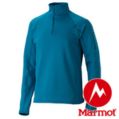 Marmot Stretch Fleece 1/2 Zip 男立領長袖刷毛暖衣 藍 80890 保暖衣