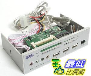 a[玉山最低比價網] 內接式 5.25 吋 多功能面板 讀卡機 USB 1394 音源接孔(20550A_J139) d