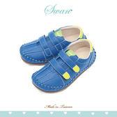 Swan天鵝童鞋-中童撞色簡約休閒鞋 3882 藍