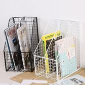 櫻倫鐵藝復古辦公室文件夾收納筐桌面收納架創意書架資料盒置物架 艾尚旗艦店