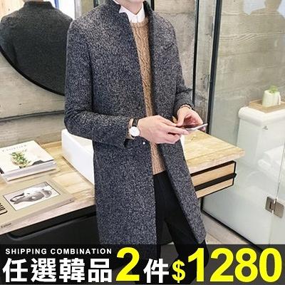 任選2件1280西裝外套韓版修身暗扣立領純色西裝外套風衣【08B-F0406】
