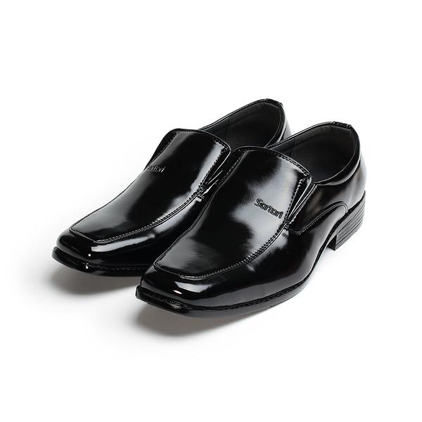 SARTORI 套式方頭紳仕鞋 黑 男