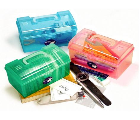 佳斯捷 小旅行家置物箱 收納箱 整理箱 文具用品 手提箱 大量採購 學校 8649 [百貨通]