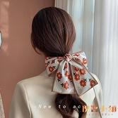 【買一送一】髮帶復古絲巾發帶女百搭綁發頭巾蝴蝶結頭飾頭繩飄【倪醬小鋪】