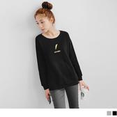 《AB1502》太陽/閃電刺繡棉感內刷毛衛衣上衣.2色 OrangeBear