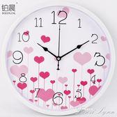 靜音時尚卡通掛鐘兒童臥室客廳創意掛錶簡約壁鐘家庭石英鐘錶 HM 范思蓮恩