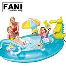 方妮FaNi❤【鱷魚噴水池嬰兒充氣游泳池...