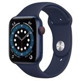 Apple Watch S6 LTE 44mm 藍色鋁金屬-海軍深藍色運動型錶帶【現貨 你的健康心生活】