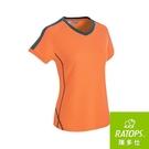 『VENUM旗艦店』【RATOPS】女 Wincool V領短袖T恤 (肩配)『粉金桔/宇宙藍綠』DB-8871
