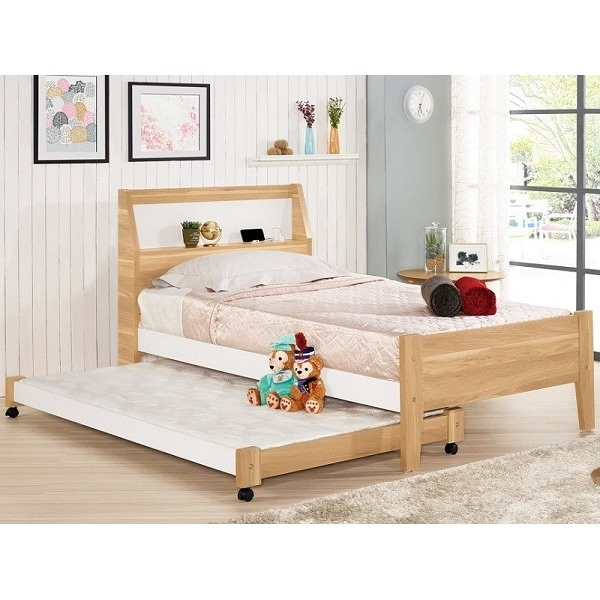 床架 床台 MK-663-3 卡爾3.5尺單人床 (可調高低)(不含床墊子床) 【大眾家居舘】