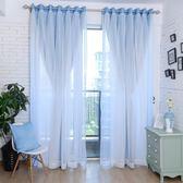 限定款遮光成品窗簾窗紗組 寬300x高270公分 現代蕾絲簡約窗簾窗紗組合jj