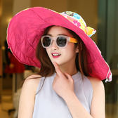 帽子女防曬沙灘帽雙面可折疊太陽帽