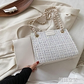 高級感包包2021新款潮網紅鏈條托特包小眾設計單肩包女百搭斜背包