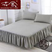 棉質床罩全棉床裙式單件席夢思保護套1.5/1.8/2.0m米床單床套防滑  ~黑色地帶