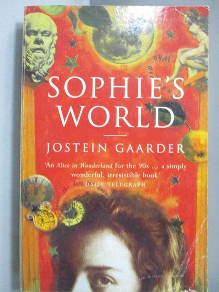 【書寶二手書T3/原文小說_NJG】Sophie s world-a novel about the history o