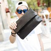 2018正韓男士新款手抓包 潮流休閒折疊手拿包 商務檔手包IPAD包 免運直出 聖誕交換禮物