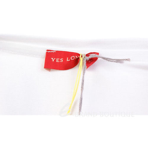YES LONDON 米色NEW YORK 龐克風格短袖T恤 1210257-40