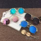 彩色兒童墨鏡男女童太陽鏡寶寶防紫外線眼鏡女個性小孩太陽眼鏡