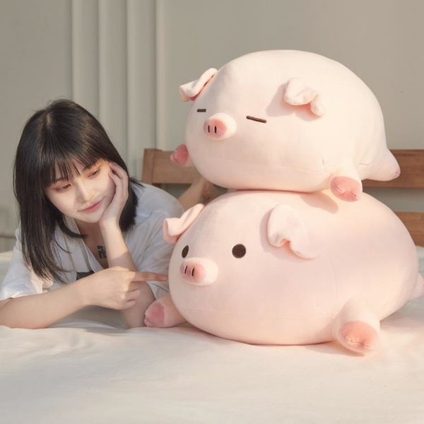 豬公仔可愛毛絨玩具小豬布娃娃陪睡覺玩偶抱枕床上超軟女生日禮物 「青木鋪子」