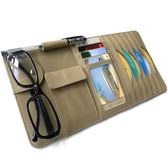高檔汽車皮革CD夾 車用多功能遮陽板套 車載CD套 放碟片夾收納袋 智聯