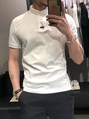 POLO衫 夏季Polo男短袖翻領T恤韓版潮流修身上衣英倫痞帥半袖體恤保羅衫【快速出貨】