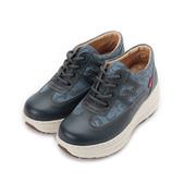 ZOBR 真皮蕾絲厚底休閒鞋 藍 Q729 女鞋 鞋全家福