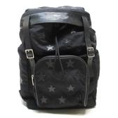 YVES SAINT LAURENT YSL 聖羅蘭 黑色帆布星星拼接後背包 Backpack 【BRAND OFF】