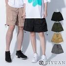 【OBIYUAN】工裝短褲 情侶款 拉鍊 立體 多口袋 工作褲 4色【ER88088】