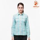 WildLand 女彈性抗UV格子長袖襯衫 0A91201 (抗UV、透氣速乾)