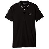 AX阿瑪尼針織短袖Polo(黑色)