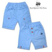水藍色平織短褲 RQ POLO 小童春夏款 [22234]