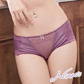 【露娜斯】紫色魅惑。咖啡紗舒適透氣包臀三角內褲【紫】台灣製P27823