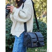 相機包數碼專業攝影包單反單肩復古帆布多功能防水便攜「多色小屋」