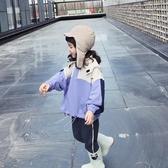 2018女童秋季新款連帽大學T外套寶寶秋款上衣E83V1504