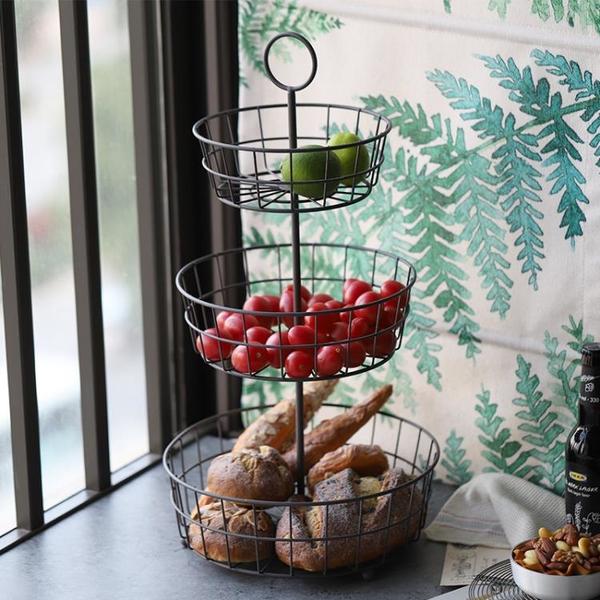 BAO日式圓形多層水果籃面包籃置物籃收納籃園藝架