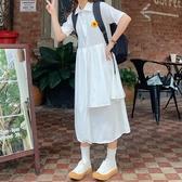 日系連身裙 森系polo長款2019新款夏仙女超仙甜美可愛少女學生長裙
