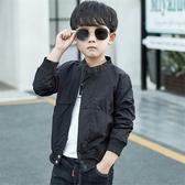 男童外套 童裝男童春夏裝純色上衣服外套新款秋季兒童韓版休閒夾克上衣 檸檬衣舍