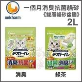*WANG*【Unicharm】日本消臭大師-一月間消臭抗菌-2L《雙層貓砂盆適》2種任選