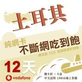土耳其網卡|Vodafone 12天高速上網不斷網 多天數可選/多流量可選/土耳其網卡/土耳其旅遊