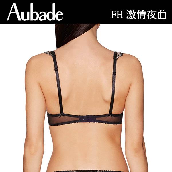 Aubade激情夜曲B蕾絲薄襯內衣(黑肤)FH