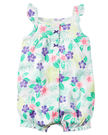 【美國Carter's】無袖純棉連身衣 - 浪漫花卉系列 #118H253