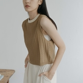Queen Shop【01012454】領邊撞色設計無袖針織上衣*現+預*